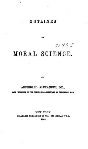Outlines of moral science.