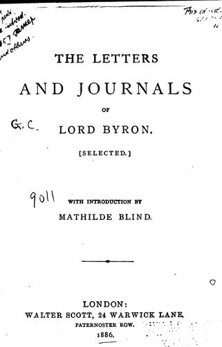 Download Letters and journals of Lord Byron