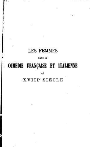 Download Les femmes dans la comédie française et italienne au 18e siècle