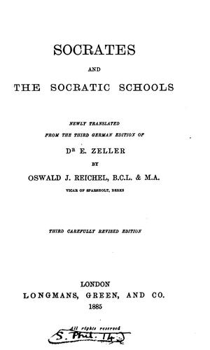Socrates and the Socratic schools