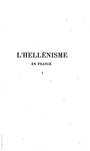 Download L' hellénisme en France