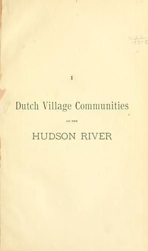 Download Dutch village communities on the Hudson River