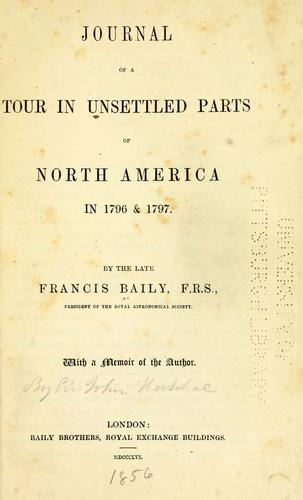 Download Journal of a tour in unsettled parts of North America in 1796 & 1797
