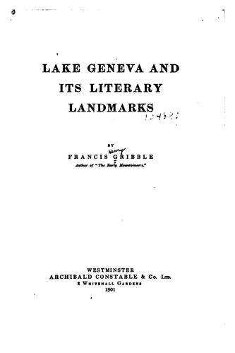 Lake Geneva and its literary landmarks