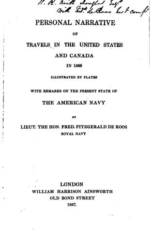 Download Personal narrative of travels in the United States and Canada in 1826 …