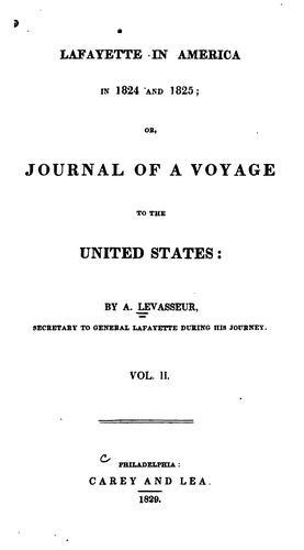 Download Lafayette in America in 1824 and 1825