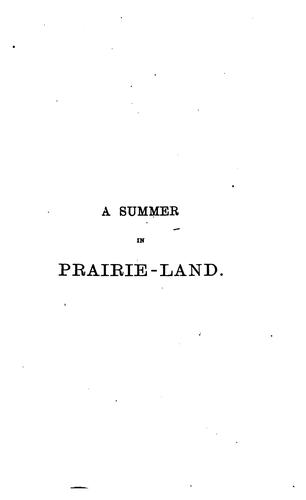 Download A summer in prairie-land