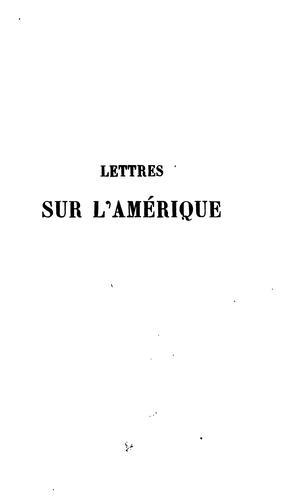 Download Lettres sur l'Amérique