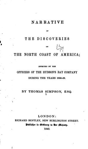 Download Narrative of the discoveries on the north coast of America