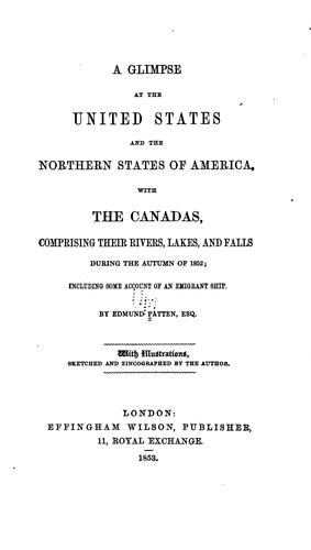 Download A glimpse at the United States and the northern states of America, with the Canadas