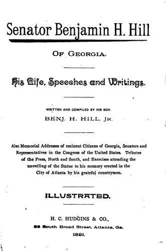 Senator Benjamin H. Hill of Georgia