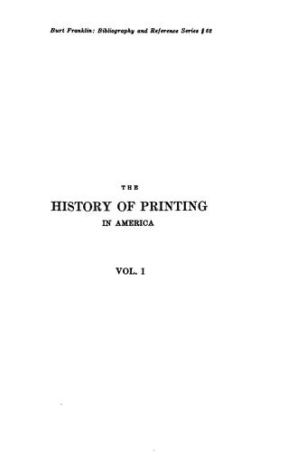 Download The history of printing in America