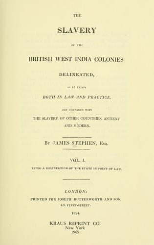 Download The slavery of the British West India colonies delineated