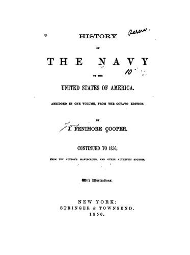 Download The history of the Navy of the United States of America.