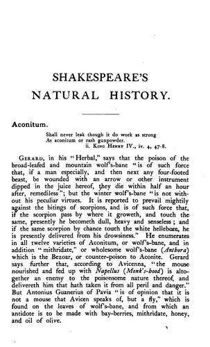Download Natural history in Shakespeare's time