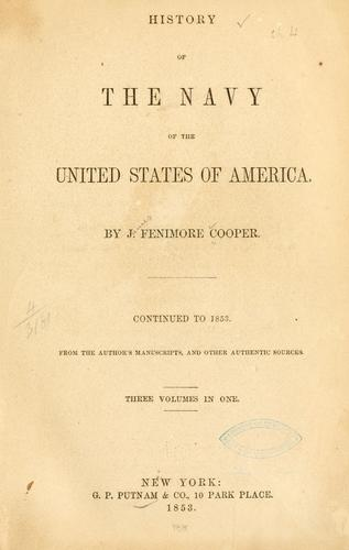 Download History of the Navy of the United States of America.