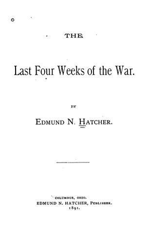 Download The last four weeks of the war.