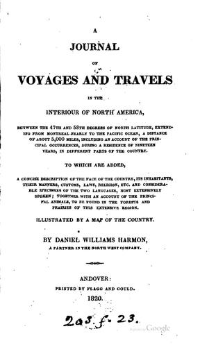 Download A journal of voyages and travels in the interiour of North America