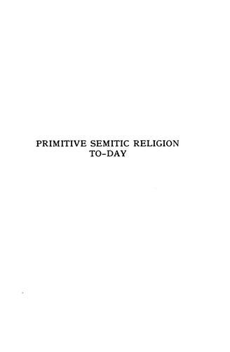 Download Primitive Semitic religion today