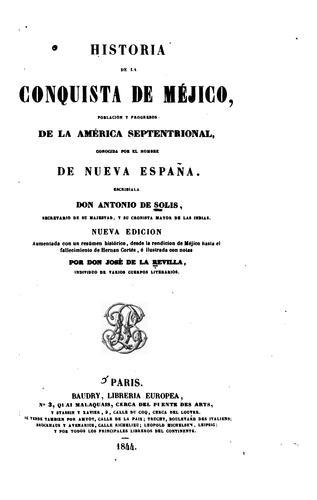 Historia de la conquista de Méjico