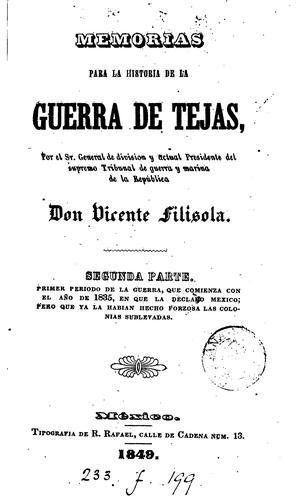 Download Memorias para la historia de la guerra de Tejas