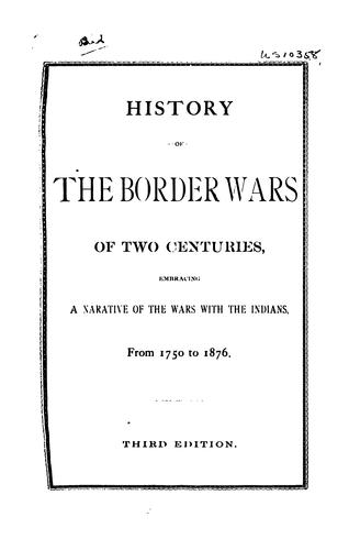 Download History of the border wars of two centuries