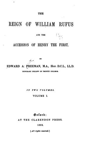 The reign of William Rufus and the accession of Henry the First.