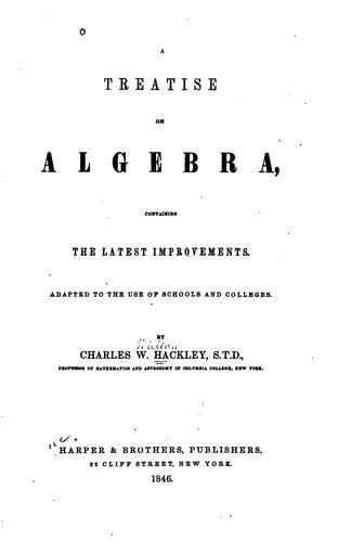 Download A treatise on algebra