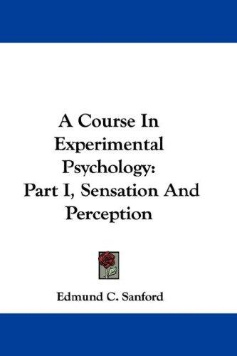 Download A Course In Experimental Psychology