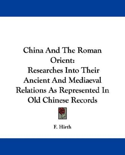 Download China And The Roman Orient