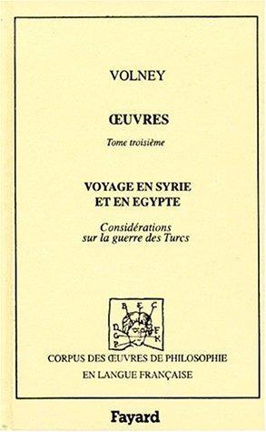 Download Voyage en Syrie et en Egypte (3 éd., 1799)