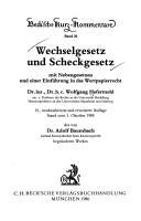 Download Wechselgesetz und Scheckgesetz