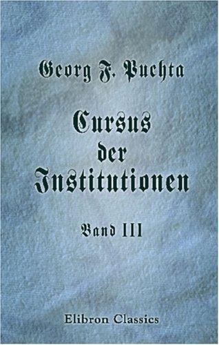 Cursus der Institutionen