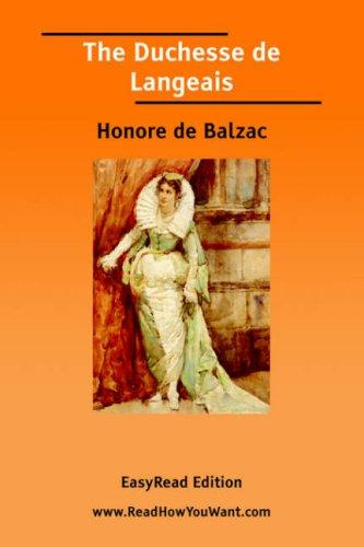 Download The Duchesse de Langeais EasyRead Edition