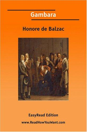 Gambara [EasyRead Edition] by Honoré de Balzac
