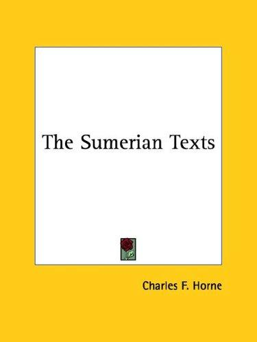 The Sumerian Texts