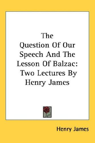 Download The Question Of Our Speech And The Lesson Of Balzac