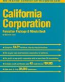 Download California Corporation Formation Package and Minute Book (Psi Successful Business Library)