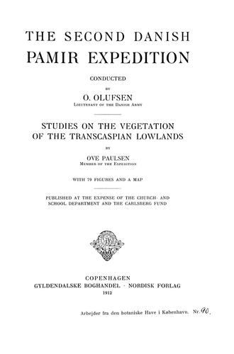 Studies on the vegetation of the Transcaspian lowlands