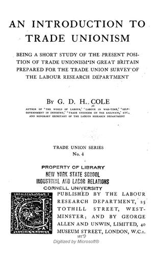 An introduction to trade unionism