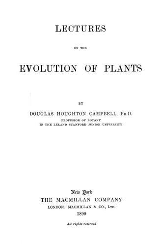 Download Lectures on the evolution of plants