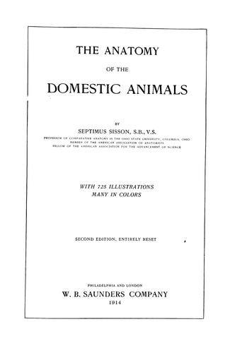 The anatomy of the domestic animals