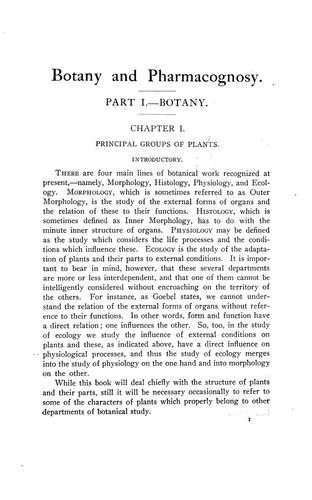 Download A text-book of botany and pharmacognosy