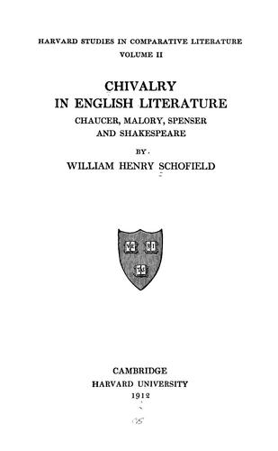 Download Chivalry in English literature