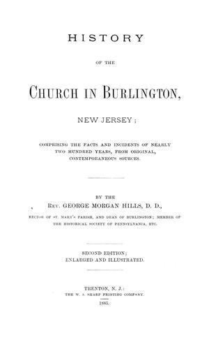 History of the church in Burlington, New Jersey