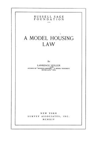 Download A model housing law
