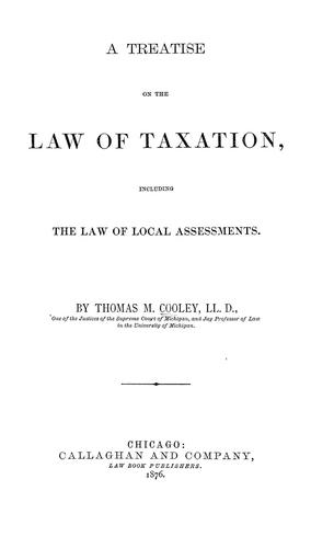 Download A treatise on the law of taxation