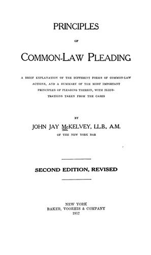 Principles of common-law pleading