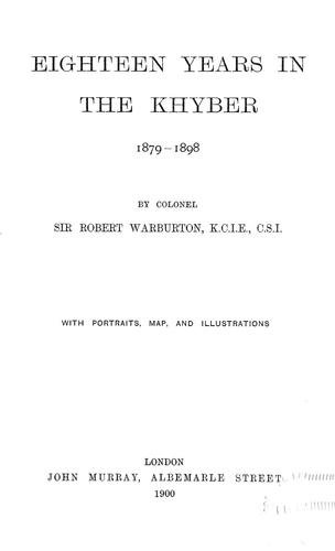 Download Eighteen years in the Khyber, 1879-1898