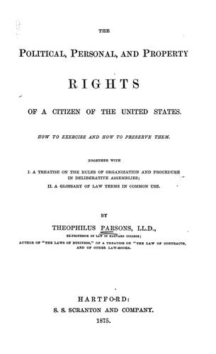 Download The political, personal, and property rights of a citizen of the United States.